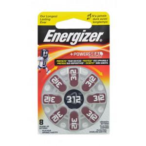 Μπαταρίες Ακουστικών Βαρηκοΐας Energizer Zinc Air 312 1.4V Τεμ. 8 7638900349245