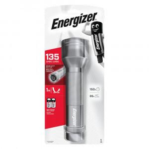 Φακός Energizer 2D Metal LED 135 Lumens με 2 D Μπαταρίες Ασημί 7638900368215