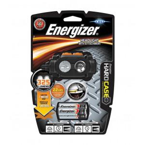 Φακός Κεφαλής Energizer Hard Case Professional 325 Lumens με Μπαταρίες AA 3 Τεμ. και 3 Επίπεδα Φωτισμού. Μαύρος 7638900375718