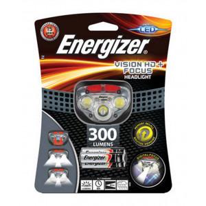 Φακός Κεφαλής Energizer Vision HD+ Focus 3 Led 300 Lumens με Μπαταρίες AAA 3 Τεμ. Γκρί 7638900412802