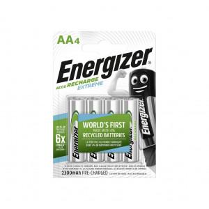 Μπαταρία Επαναφορτιζόμενη Energizer ACCU Recharge Extreme 2300 mAh size AA 1.2V Τεμ. 4 7638900416893