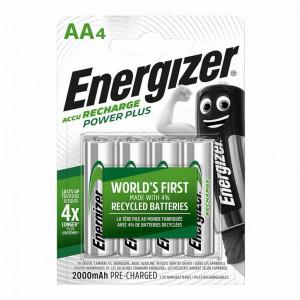 Μπαταρία Επαναφορτιζόμενη Energizer ACCU Recharge Power Plus 2000 mAh size AA 1.2V Τεμ. 4 7638900417012