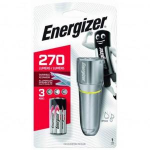 Φακός Energizer LED Vision HD Metal 270 Lumens IPX4 με 3 ΑΑΑ Μπαταρίες με Λειτουργία Φλας. Ασημί 7638900419580