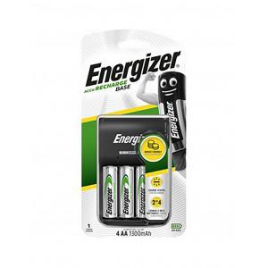 Φορτιστής Μπαταριών Energizer ACCU Recharge Base για AA/AAA με 4 ΑΑ Μπαταρίες 1300mAh και LED Ένδειξη Φόρτισης 7638900421422