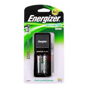 Φορτιστής Μπαταριών Energizer ACCU Recharge Mini για AA/AAA με 2 ΑΑ Μπαταρίες 2000mAh 7638900421439