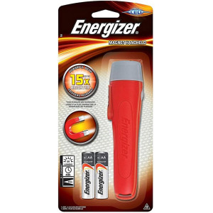 Φακός Energizer Magnetic Handheld 50 Lumens με 2 ΑΑ μπαταρίες. Κόκκινος 7638900422955