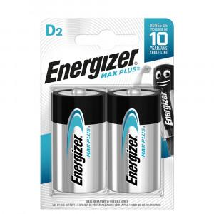 Μπαταρία Αλκαλική Energizer Max Plus LR20 size D Τεμ. 2 7638900423358