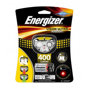 Φακός Κεφαλής Energizer Vision Ultra 400 Lumens με 3 Μπαταρίες ΑΑΑ Μαύρο-Κίτρινο 7638900424478