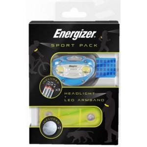 Φακός Κεφαλής Energizer Sport Pack 100 Lumens με Μπαταρίες AAA 3 Τεμ. και Ταινία LED για το χέρι. Μπλε 7638900426403
