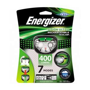 Φακός Κεφαλής Energizer Vision Ultra Rechargable 400 Lumens με Καλώδιο Φόρτισης Πράσινο 7638900426441
