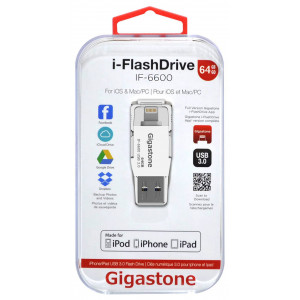 Gigastone USB 3.0 i-FlashDrive IF-6600 64GB OTG MFI για iPhone & iPad & iPod 804272748727