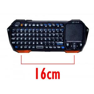 Πληκτρολόγιο Mini Bluetooth IS11-BT05 με Touchpad All-in-One για Smartphone, Tablet, PC, και SmartTV Μαύρο 808206303419