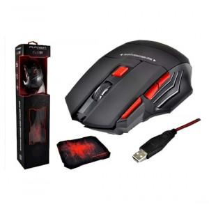 Ενσύρματο Ποντίκι Gaming Mouse Keywin 7D με 7 Πλήκτρα, 3200 DPI και Mousepad Μαύρο - Κόκκινο 8680090015508