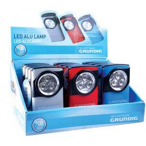 Φακός Αλουμινίου Grundig 3 Led με Μπαταρίες AAA σε Διάφορα Χρώματα 8711252271293