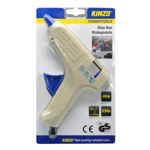 Glue Gun Kinzo 40W 230V with 2 x Spare Parts 11*100mm 8711252486642