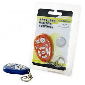 Universal Keychain Remote Control for TV Different Colors with Battery CR2025 1 Pcs 8711252509358