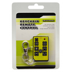 Universal Keychain Remote Control for TV Varius Colors with Battery CR2032 1 Pcs 8711252509365