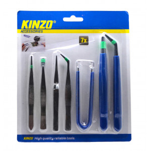 Set Tweezers Kinzo 7 Pieces 8711252793832