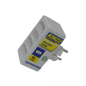 Power Adapter Kinzo Suco 4x2.5A with Protection (4x2.5A - 230V-50Hz-2200W) 8711252998091