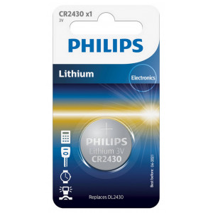 Buttoncell Lithium Electronics Philips CR2430 Pcs. 1 8711500829351