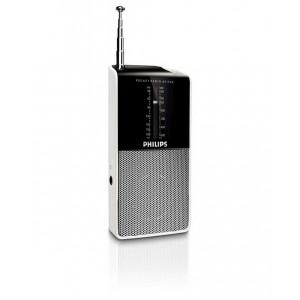 Φορητό Αναλογικό Ραδιόφωνο FM/MV Philips AE1530 Μαύρο - Ασημί 8712581398941