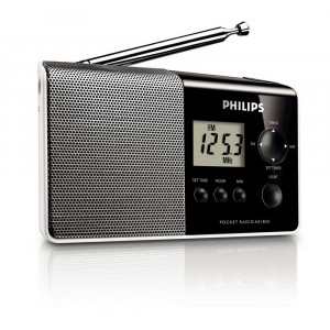 Portable Digital Radio FM/MV Philips AE1850 Black - Silver 8712581398965