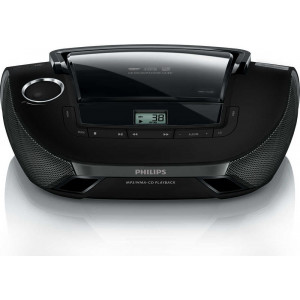 Philips USB MP3-CD Soundmachine AZ1837/12 Black with USB Port 8712581511074