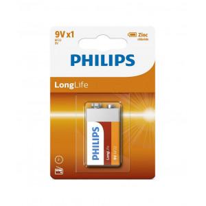 Μπαταρία Philips LongLife 6F22 9V Τεμ. 1 8712581549558