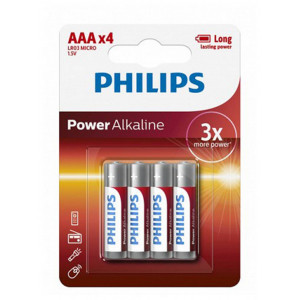 Μπαταρία Αλκαλική Philips PowerLife LR03 size AAA 1.5 V Τεμ. 4 8712581549824