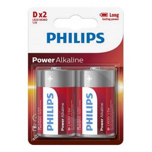 Μπαταρία Power Alkaline Philips LR20 size D 1.5 V Τεμ. 2 8712581550011