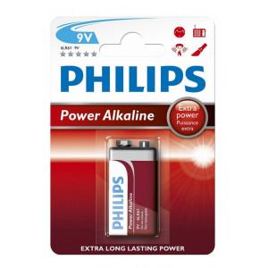 Μπαταρία Power Alkaline Philips 6LR61 size 9V Τεμ. 1 8712581550042