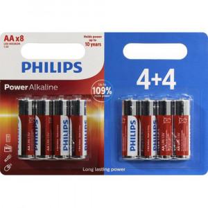 Μπαταρία Αλκαλική Philips Power Alkaline LR6 size AA 1.5 V Τεμ. 4+4 8712581622169