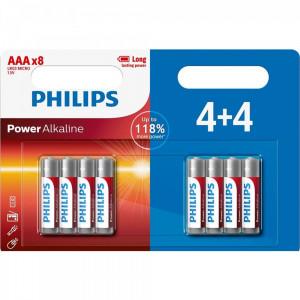 Μπαταρία Αλκαλική Philips Power Alkaline LR03 size AAA 1.5 V Τεμ. 4+4 8712581644130