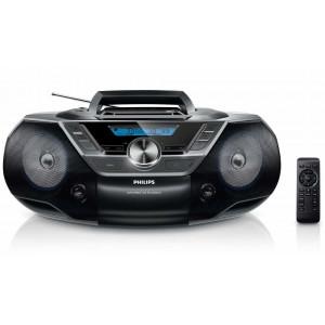 Φορητό Ράδιο CD Philips AZ780/12 Μαύρο με Θύρα USB και Ψηφιακό Ραδιόφωνο 8712581667764