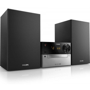 HiFi Micro System Philips 15W MCM2300/12 Silver - Black with MP3 Link and USB Port 8712581711719