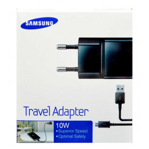 Travel Charger Samsung ETA-U90EΒΕ 10W Black with Detachable Cable MIcro USB for i9070 Galaxy S Advance 2000 mAh 8806085298613