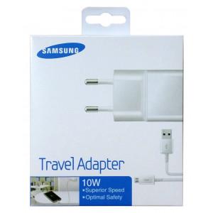 Φορτιστής Ταξιδίου Samsung ETA-U90EWE 10W Λευκός με Αποσπώμενο Καλώδιο Micro USB για i9070 Galaxy S Advance 2000 mAh 8806085330832