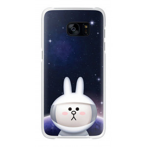 Θηκη Faceplate Samsung S7 Edge Line Friends Cover Cony EF-XG935LWEGWW για SM-G935F Galaxy S7 Edge Μαυρη 8806088416939