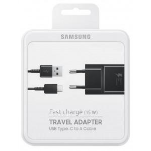 Φορτιστής Ταξιδίου Samsung EP-TA20EBECGWW με Αποσπώμενο Καλώδιο USB Type-C Μαύρο 2000 mAh Fast Charge (15W) 8806088844343