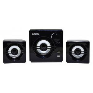 Ηχείο Stereo Camac CMK-680A 2.1 750W 5W+1Wx2 RMS Μαύρο με Τροφοδοσία Πρίζας 7x14x5cm 8809067301561