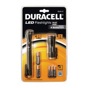 Σέτ Φακών Led Duracell 2 Τεμαχίων με Μπαταρίες AA 2 Τεμ + AAΑ 3 Τεμ 884620007294