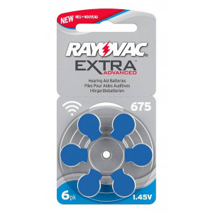 Hearing Aid Batteries Rayovac 675 Extra Advanced 1.45V Pcs. 6 96126967
