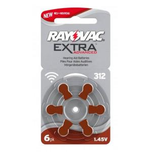 Μπαταρίες Ακουστικών Βαρηκοΐας Rayovac 312 Extra Advanced 1.45V Τεμ. 6 96126981