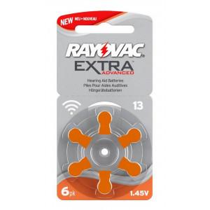 Μπαταρίες Ακουστικών Βαρηκοΐας Rayovac 13 Extra Advanced 1.45V Τεμ. 6 96178225