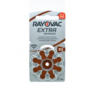 Μπαταρίες Ακουστικών Βαρηκοΐας Rayovac 312 Extra Advanced 1.45V Τεμ. 8 96181225