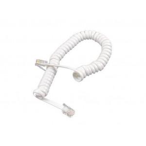 Τηλεφωνικό Καλώδιο RJ9 Jasper Σπιράλ 2μ. Λευκό 5210029068256