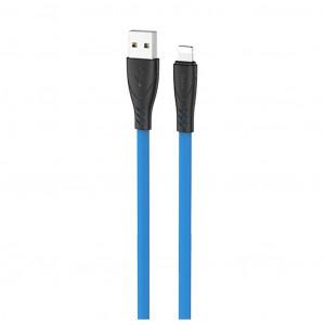 Καλώδιο σύνδεσης Hoco X42 USB σε Lightning 2.4A Fast Charging με Ανθεκτική Σιλικόνη 1μ. Μπλε 6931474719201