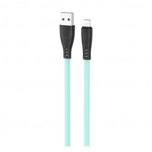 Καλώδιο σύνδεσης Hoco X42 USB σε Lightning 2.4A Fast Charging με Ανθεκτική Σιλικόνη 1μ. Πράσινο 6931474719218