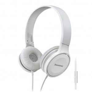 Ακουστικά Stereo Panasonic RP-HF100ME-W με Μικρόφωνο, δυνατότητα Αναδίπλωσης και Μηχανισμό Περιστροφής 5025232851027