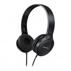 Ακουστικά Stereo Panasonic RP-HF100E-K με δυνατότητα Αναδίπλωσης και Μηχανισμό Περιστροφής Μαύρα 5025232846696
